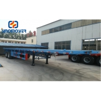 Wholesale ISO9001 2 Axles Flatbed Semi Trailer Tractor For Container from china suppliers