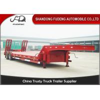 Wholesale Heavy duty trailer low bed semi trailer 2 / 3 / 4 axles 40 / 80 / 100 tons capacity from china suppliers