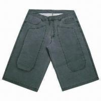 Quality Men's shorts, made of 100% cotton canvas pigment dyed, heavy enzyme wash, snow for sale