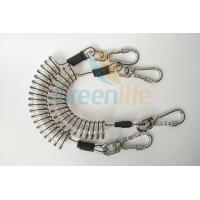 Wholesale Core Reinforced Coil Tool Lanyard 1.5 Meters With Stainless Steel Clips from china suppliers