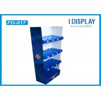 Buy cheap Supermarket Custom Floor Display Racks , 4 Tray Cardboard Bakery Display Shelves from Wholesalers