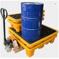 Wholesale Poly Drum Spill Containment Pallets For 200L Oil Tank , 4 drum spill containment plastic pallets from china suppliers