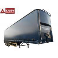 Wholesale Aerodynamics Curtain Side Step Deck Trailer , Curtain Side Lorry With Light Curb Plate from china suppliers