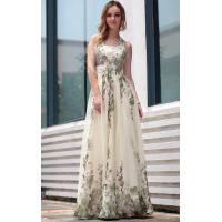 Wholesale Floor Length Halter Printed A-line Mature Evening Dress / Modern Bridesmaids Dresses-30675 from china suppliers