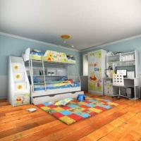 Wholesale Kids's Wooden Furniture, E0 Grade, Environment-friendly, with Bunk Bed, Cartoon Figure Design from china suppliers