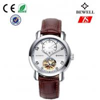 leather band stainless steel wrist watches custom gold