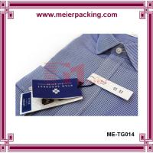 China men shirt paper hangtags low minimum, garment jeans hangtag ME-TG014 on sale