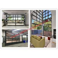 Wholesale Aluminum Frame Rolling Door Customized Transparent Door With Tempered Glass Panel from china suppliers