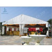 China White Roof Cover outside event tents for Golf Villas Sales Conference with orange ripples on sale