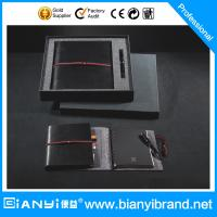Wholesale Schedule notebook with elastic strap and pan in black color from china suppliers