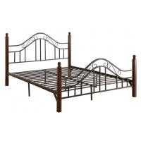 cool french style full size metal beds double black with headboard of item 105403842. Black Bedroom Furniture Sets. Home Design Ideas