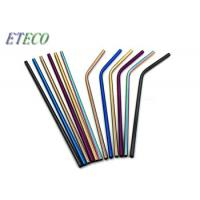 Wholesale Kids Straight Rainbow Reusable Straws Non Plastic 304 Stainless Steel from china suppliers