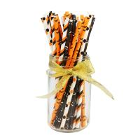 Wholesale Halloween Day Individually Wrapped Paper Straws Drinking Disposable Colorful from china suppliers