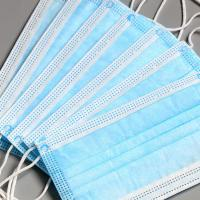 Buy cheap 50pcs Per Box Packaging 3ply Disposable Earloop Medical Surgical Face Mask with from wholesalers