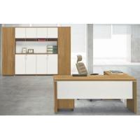 modern wood office manager L type table Foshan furniture in stock