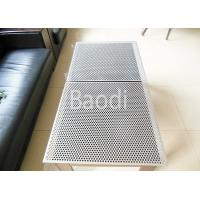 Stainless Perforated Steel Sheet SS304 / SS316 Round Hole For Construction