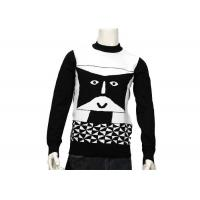 China Striped Jumper Modern Mens Knit Sweater Winter Cotton Long Sleeve Anti - Wrinkle on sale