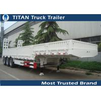 High payload tri - axle low loader semi truck trailer for excavator transportation