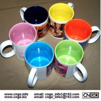 Wholesale Export inside colors sublimation ceramic mug custom LOGO 7102 mark cup from china suppliers