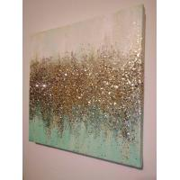 Wholesale Custom Home Glitter Abstract Canvas Wall Art CV0022 With Design Package from china suppliers