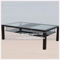 Wholesale Modern TV Cabinet/Stand with Clear Tempered Glass and Black Toughened Glass from china suppliers