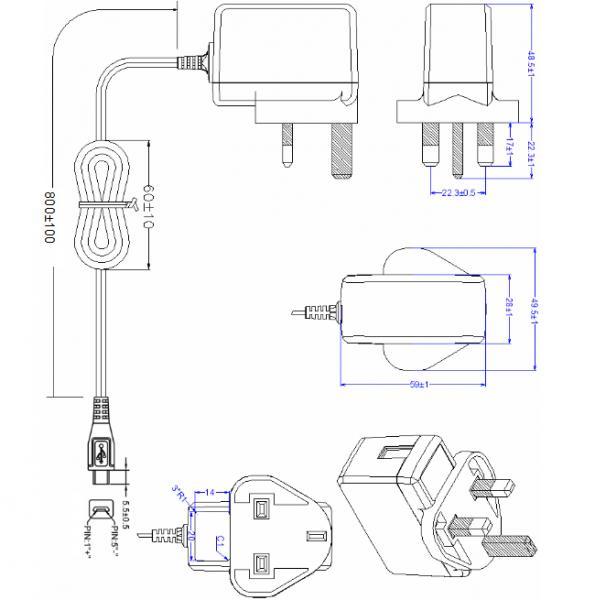 uk plug gme power adapter ac dc adaptor 6v low ripple