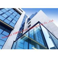 Wholesale Half Hidden Frame With Laminated Insulation Double Skin Glass Curtain Wall For Commercial Building from china suppliers