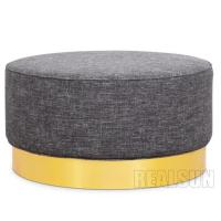 Wholesale American Style Nisco Round Upholstered Ottoman With Fabric Cover And Memory Foam from china suppliers
