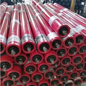 Buy cheap Belt Conveyor Roller for mining Industrial Steel Roller Trough Roller from wholesalers