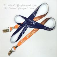 Wholesale Alligator clip card holder neck straps, bulldog clip ID badge neck ribbons, from china suppliers