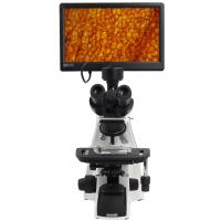 Wholesale Biological Compound Video Digital Microscope / 12.5 Lab Trinocular Profesional Pantalla Lcd Microscope from china suppliers