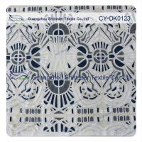 Wholesale White And Black Big Geometric Cotton Polyester  Lace Fabric , 1.45 - 1.5m from china suppliers