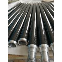 Wholesale Aluminum joint connect 3K twill carbon fiber tube tubing tubes with aluminum thread from china suppliers