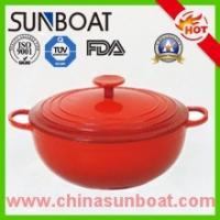 Wholesale hot sale red color painted cast iron cookware enamel dutch oven from china suppliers