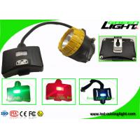 China 6.8Ah Panasonic Battery Rechargeable LED Headlamp With Low Power Warning Safety Rope on sale