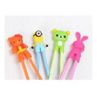 Wholesale Reusable Silicone Kitchen Gadgets Cute Cartoon Children'S Training Chopsticks from china suppliers