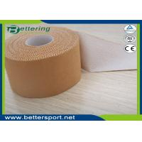 Buy cheap 5cmx13.7m Latex free zinc oxide athletic rigid strapping tape viscose sport tape to limit joint movement from wholesalers