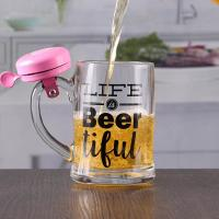 Wholesale 12 oz craft beer mug with bell customizable printing logo from china suppliers