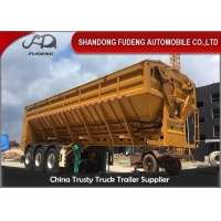 Wholesale 3600MM 3 Axle Steel Conveyor Belt 60T Dump Semi Trailer from china suppliers