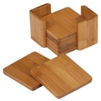 China different type and shape of bamboo coaster holder wooden coaster set for high quality on sale