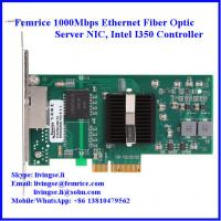 Wholesale 10/100/1000Mbps Dual Port RJ-45 Copper Cable Ethernet Server Adapter, Intel I350 Chipse from china suppliers