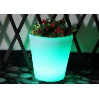 Wholesale Colour Changing Plant Pots With Remote Control / Round Plastic Flower Pots Green Color from china suppliers