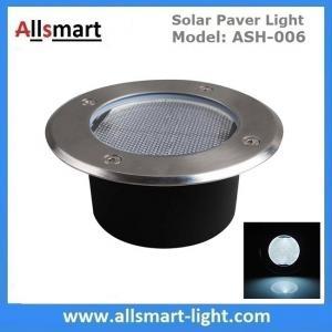 Wholesale Φ130x60mm Round Solar Paver Lights Maintenance Free Solar Brick Lights Solar Underground In-ground Lights Waterproof from china suppliers