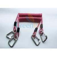 Wholesale High Strength Strong Coil Tool Lanyard Transparent Red PU Material Cover from china suppliers
