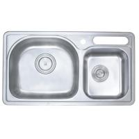 Wholesale Double Bowel Commercial Stainless Steel Kitchen Sinks With Knife Hole from china suppliers
