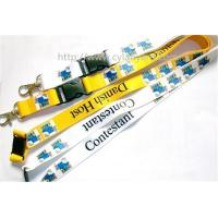 Wholesale Promotional logo full color print neck ribbon strap with ABS side release buckle, from china suppliers