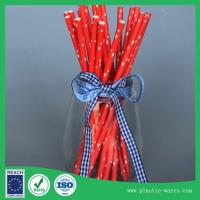 Wholesale Red color paper drink straws health and environmental protection from china suppliers