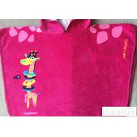 China Easy Clean Customized Hooded Beach Towels Pink For Birthday / Holiday on sale