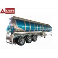 Wholesale 3 Axle 42000 L Fuel Transfer Tank Trailer / Tanker Trailer Large Carrying Capacity from china suppliers