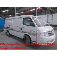 Wholesale 2018s high quality and best price FOTON 4*2 LHD gasolinerefrigetator minivan vehicle for sale, cold room minibus from china suppliers